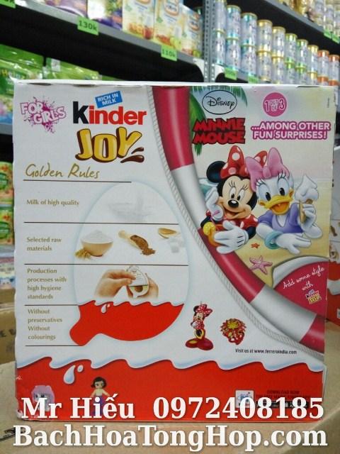 Hộp Kinder Joy bé gái 24 quả