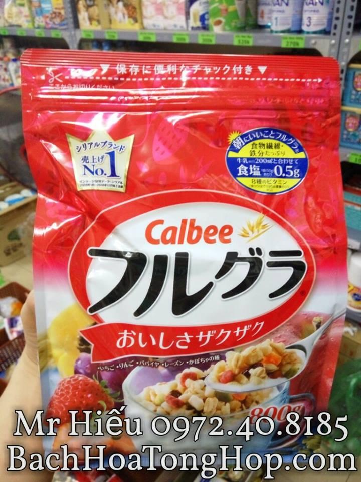 Ngũ cốc Calbee 800g Nhật