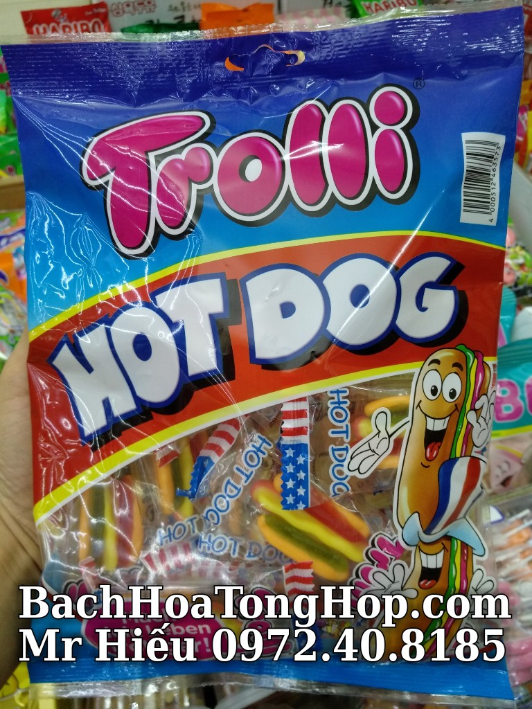 Kẹo dẻo Trolli Hot Dog 150g