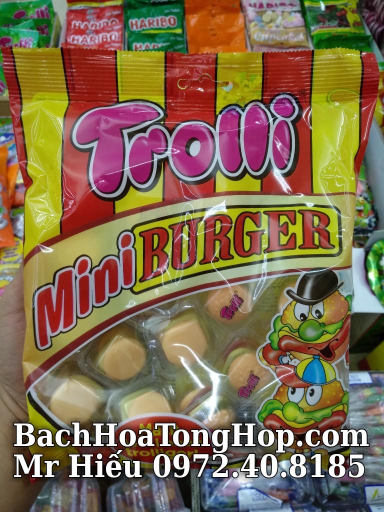 Kẹo dẻo Trolli Mini Burger 170g