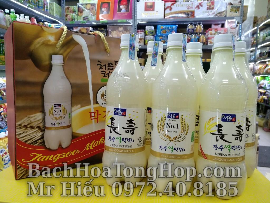 Hộp quà 6 chai rượu gạo Hàn Quốc
